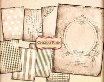 ANTIQUE BACKGROUND digital collage sheet, digital paper vintage scrapbook supplies for scrapbooking digital download