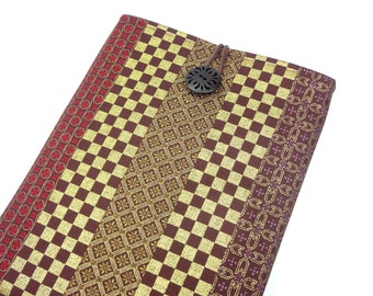 Gift For Men Galaxy Tab Case - iPad Air Cover - Padded Tablet case -Plaid Pattern Brown