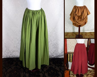 Basic Cotton Skirt -- Custom Made in Your Size and Color Choice