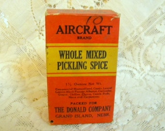 Aircraft Spice box for Donald Dry Goods and Grocery of Nebraska 1930-40s vintage