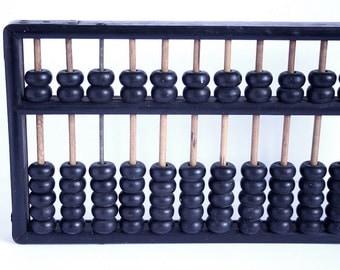 Vintage Dark Wood Abacus // Office Vintage School Room Decor