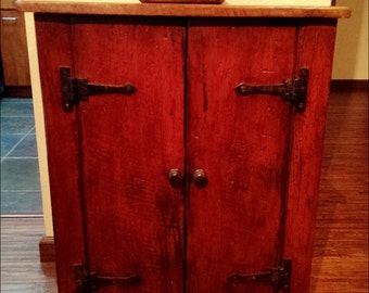 The Old Carrington Cabinet - Handmade Painted Cabinet Made with Reclaimed Wood by Arcadian Cottage