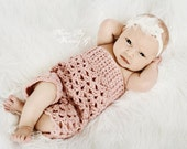 Crochet Newborn romper FREE US SHIPPING