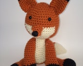 Crochet fox, amigurumi-made to order FREE US SHIPPING