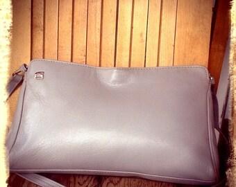 CLOUDS   ///   Gray Leather Shoulder Bag