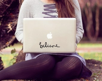 believe small laptop decal