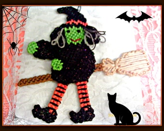 Witch Agatha on a Broom
