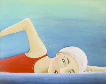 The Swimmer - original painting