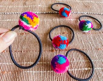 Hmong pompoms Hair band /Wholesale