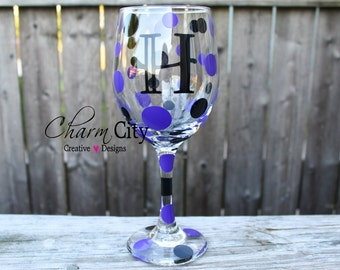 Personalized Wine Glass 20 oz Fancy Font