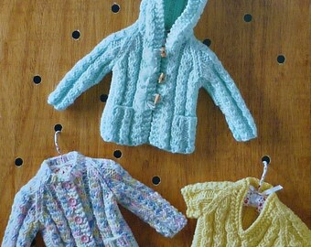 Baby Knitting Pattern K3042 Babies Hoodie Jacket Cardigan and Jumper Knitting Pattern in Chunky (Bulky) King Cole