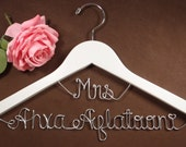 Bridal Hanger Mrs on Top for your wedding pictures, Personalized custom bridal hanger, brides hanger, Bridal Hanger, Wedding hanger, Bridal