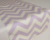 Lavender and White Chevron table runner - SELECT A SIZE