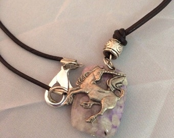 Unicorn Charoite Necklace
