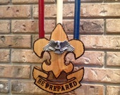 Boy Scout Eagle Ceremonial Candle Holder with Candles & Pewter Eagle