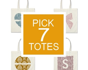 Pick Any 7 Tote Bags