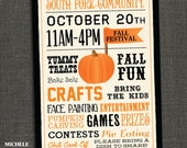 FALL FESTIVAL POSTER - Community - School Pumpkin Patch - Halloween - Printable