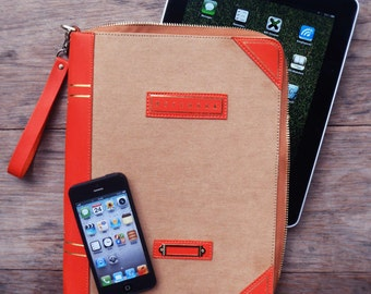 Take Notes : iPad+iPhone Sleeve (Galaxy Tab 10.1), Book Clutch, Waterproof Pouch