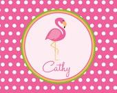 Personalized Flamingo Luggage Tags (Set of 2)