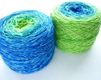 Color Changing Sock Yarn - Superwash Merino Single Ply Fingering Weight in Great Barrier Reef Colorway