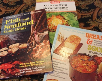 Cookbooks Three For the Bachelor or New Cooks