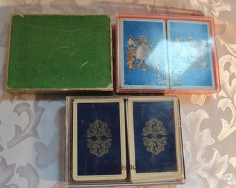 Vintage HALLMARK BRIDGE CARDS Coated Bridge Set