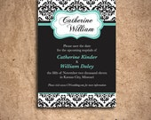 Damask Save the Date Cards (Set of 100)