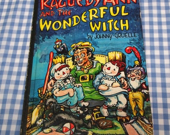 raggedy ann and the wonderful witch, vintage 1961 children's book
