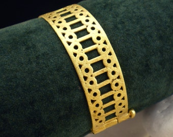"Gold Plated Solid Sterling Silver Bracelet - ""Lace"""