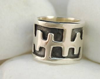 Handmade Solid Sterling Silver Band Ring - FREE Shipping