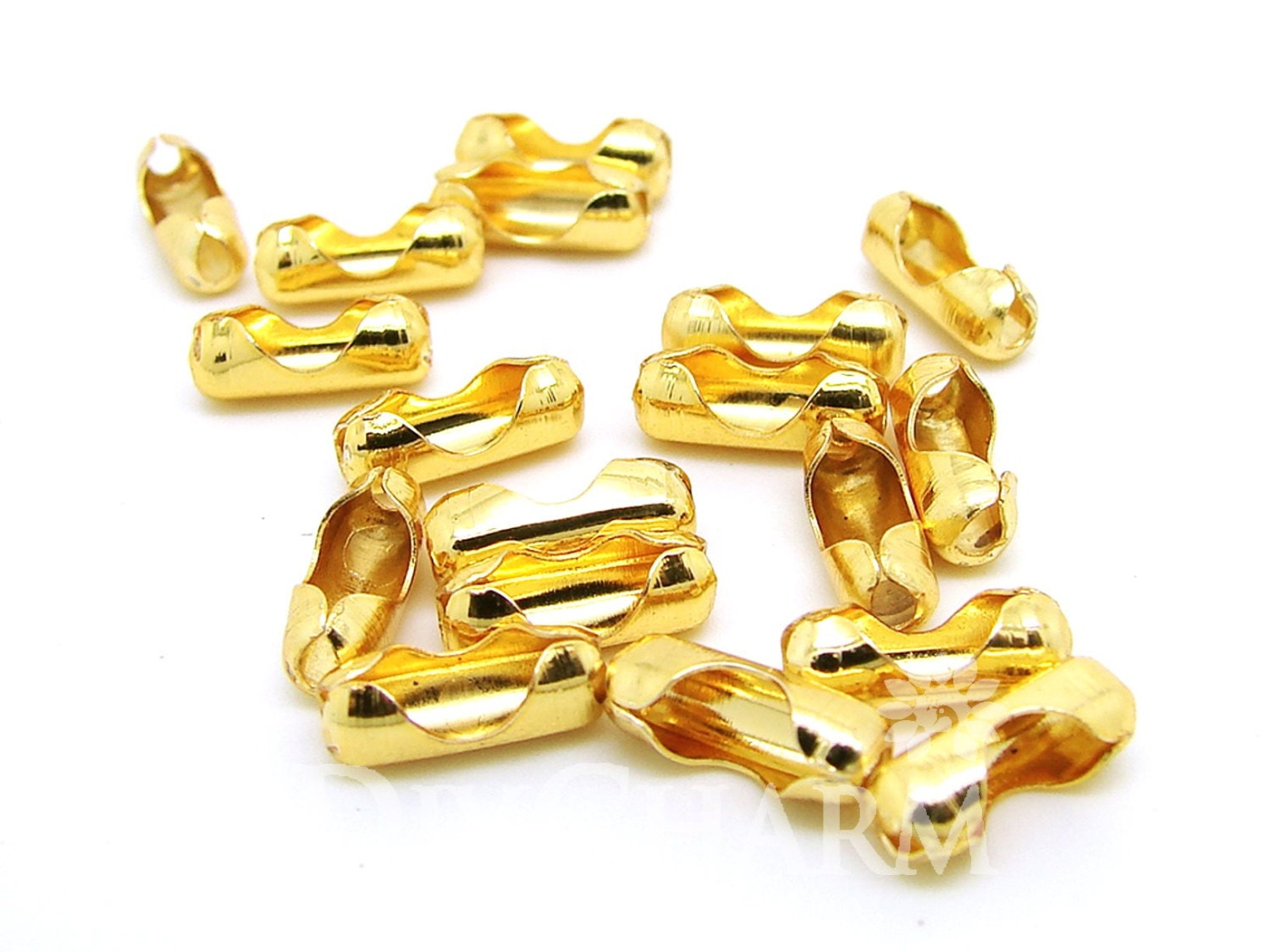 gold tone bead chain connector clasps fit 2 2 4mm chain