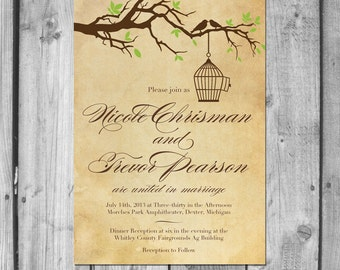 Lovebird Cage Invitation Set
