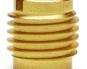EZ Lok 1/4-20 Threaded Brass Insert for Wood  25 pack