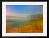 Abstract - Modern - Landscape Photography - Fine Art Print - Blue - Orange - Green