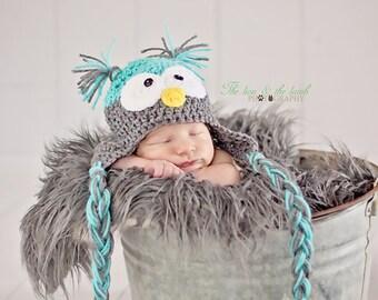 PATTERN Crochet Owl Hat Pattern 3 Sizes Newborn to 12 months