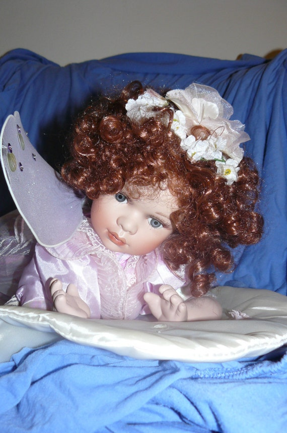 Lovely Porcelain Cathay Collection Limited Edition Doll Angel