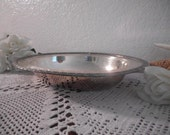 Vintage Silver Serving Dish Oval Bread Tray Thanksgiving Platter Christmas Wedding Decoration Holiday French Country Farmhouse Home Decor - ElegantSeashore