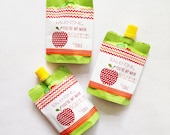 INSTANT DOWNLOAD VALENTINE, Main Squeeze Applesauce Labels, Orange and Red