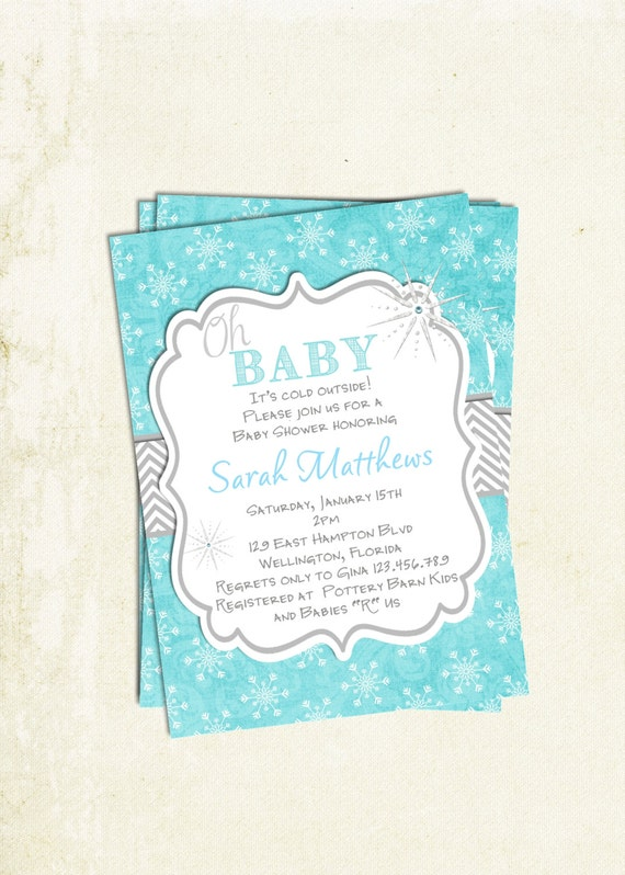 items similar to oh baby winter baby shower invitation printable