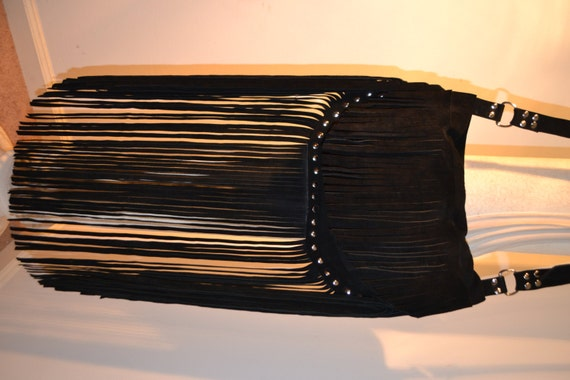 how to add fringe to a purse