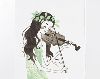 SALE - Violin art print