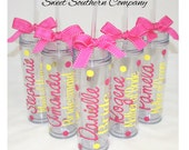 1 Personalized Bride and Bridesmaids Tall  Acrylic Tumblers
