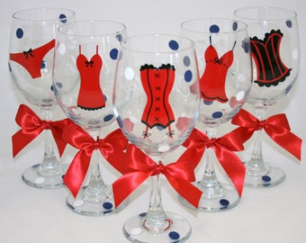 6 Personalized Bachelorette Party 20 oz. Wine Glasses, Perfect for the Bride to Be