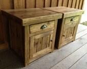 Reclaimed Chestnut End Table Set