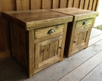 Reclaimed Chestnut End Table Set - Ready To Ship