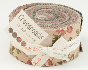 Crossroads Fabric Collection by Jan Patek for Moda Fabrics - 1 Jelly Roll