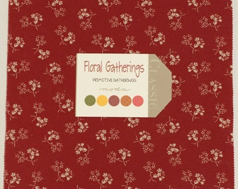 Floral Gatherings Fabric Collection by Primitive Gatherings for Moda - 1 Layer Cake