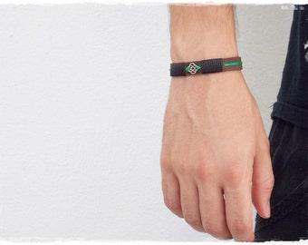 Celtic Knot Bracelet, Men's Leather Bracelet, Irish Leather Bracelet Cuff, Elven Leather Bracelet, Love Knot Bracelet, Viking Leather Cuff