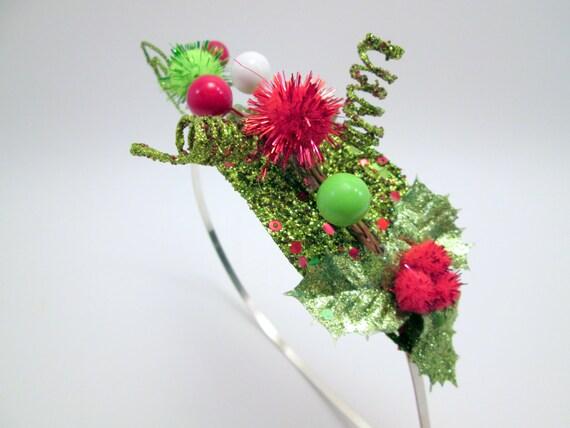 Headband grinch cindy lou who elf costume christmas fascinator