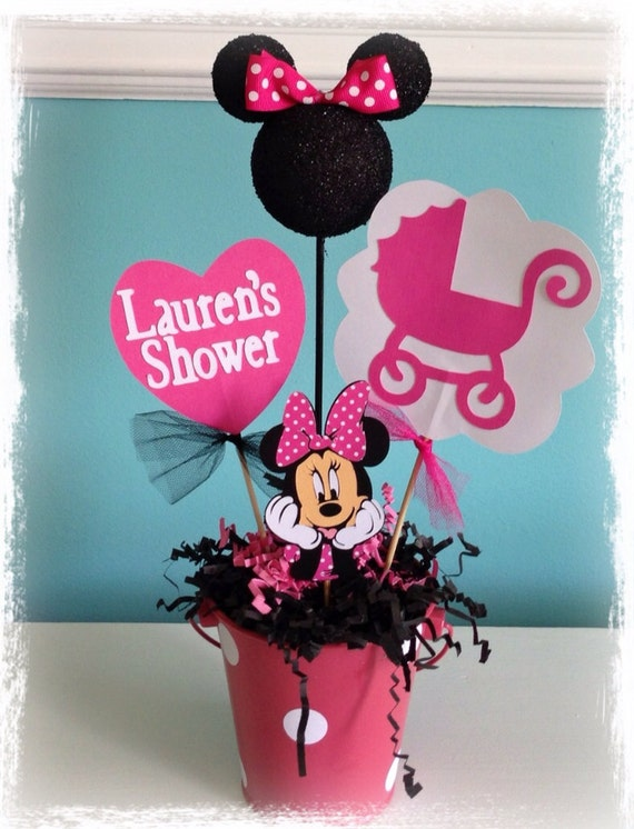 minnie mouse baby shower decoration